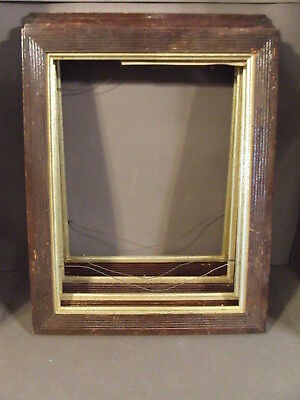 Lot Of 4 Matching Antique Vintage Wooden Picture Frames No Glass/backs