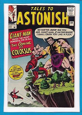 "Tales To Astonish #58_August 1964_Very Fine+_""coming Of Colossus""_Silver Age Uk!"