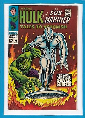 TALES TO ASTONISH #93_JULY 67_VF_CLASSIC HULK Vs SILVER SURFER_SUB-MARINER!