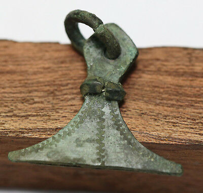 Ancient Viking Bronze pendant AMULET   axе GREAT SAVE
