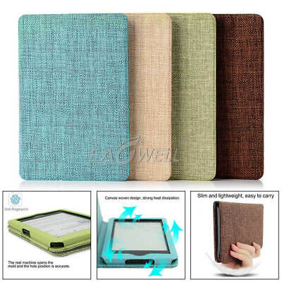 Leather Cover Stand Case For Amazon Kindle Paperwhite123/Kindle 499/Kindle Touch