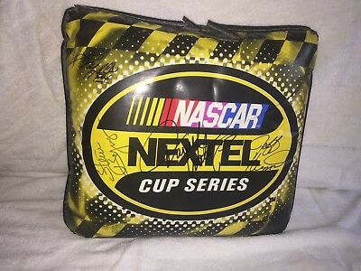 Nascar Autographed Seat Cushion By Fox Broadcast Team Waltrip Byurns Signed
