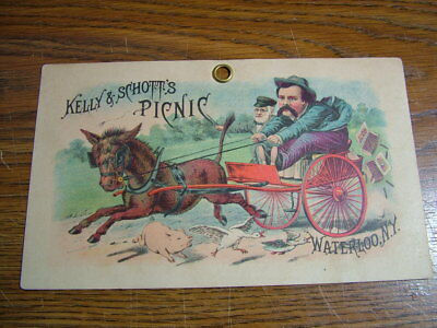 Picnic Cigars by Kelly & Schotts Waterloo NY..Store Advertising Sign