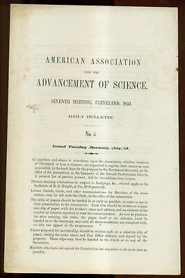1853 American Association for the Advancement of Science Meeting Daily Bulletin