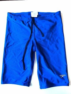 "30"" blue Speedo Boys Endurance Jammer Swim Shorts"
