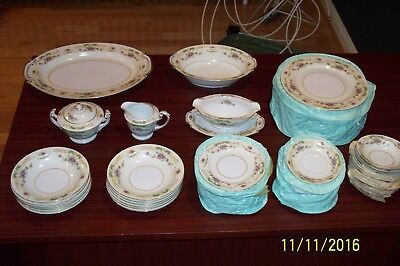 Antique Fine China Of Japan By Wentworth Fine China New Full Service For 12