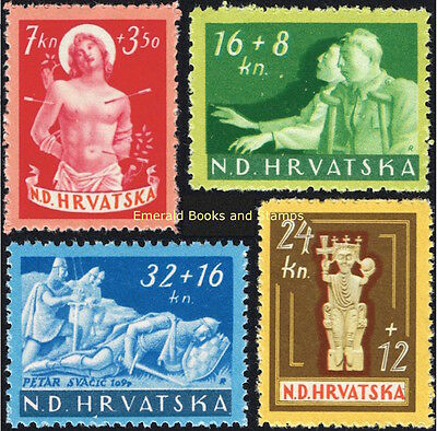 EBS Croatia Hrvatska NDH 1944 War Wounded Foundation set Michel 154-157 MNH**