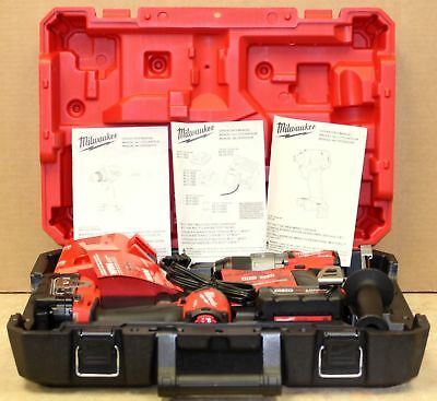 Milwaukee 2997-22 M18 FUEL Hammer Drill & Impact Driver Combo Kit New Ships Free