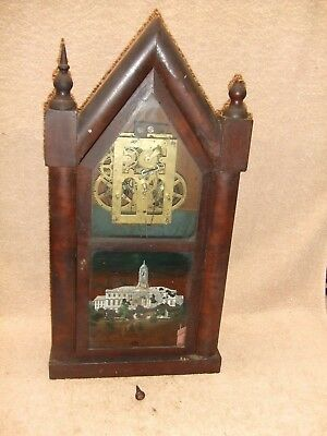 Old E N WELCH Steeple parlor mantle clock as is for parts or fix