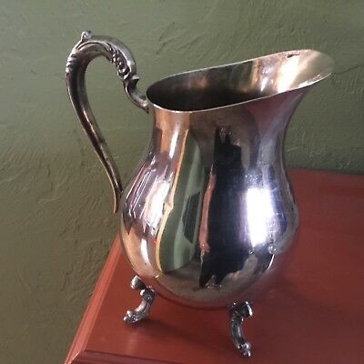 Vintage FB Rogers Silver Co. Plated Footed Water Pitcher
