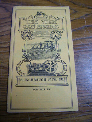 Antique York Traction Engines Advertising Booklet...Greencastle Pa.   Tractors