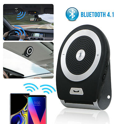 Wireless Bluetooth HandsFree Car Sun Visor Clip Auto Kit Speaker Music Player