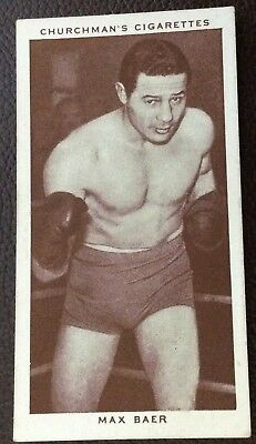 Max Baer,churchmans Cigarette Tobacco Card Boxing Personalities #3 1938
