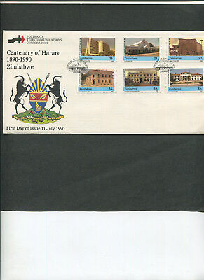 Zimbabwe: 1st day cover. Centenary of Harare (1890-1990).