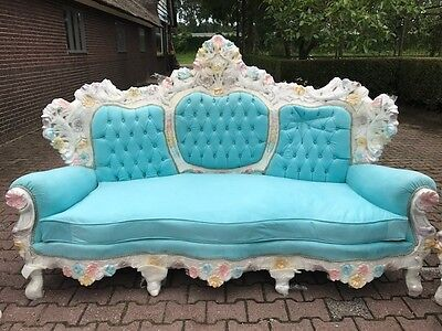 Antique Venetian Italian  Sofa Couch Settee From About 1900