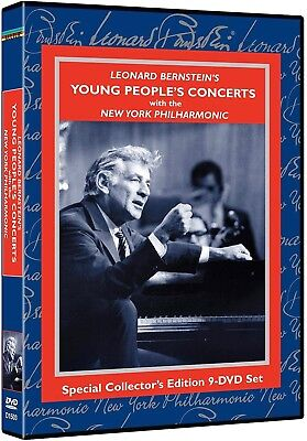 KULTUR 9-Disc DVD Set: Leonard Bernstein's Young People's Concerts - 2004 SEALED