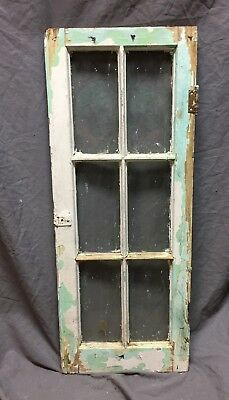Antique 6 Lite Casement Window Cabinet Old Shabby Vintage Chic 14X35 379-18C