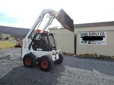 "1998 Bobcat 863 Rubber Tire Skid Steer Loader High Flow 73 HP Diesel 74"" Bucket"