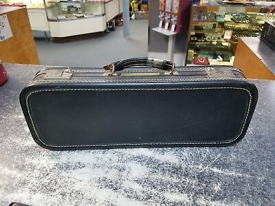 Old vintage flute case empty collectors four musical band instrument