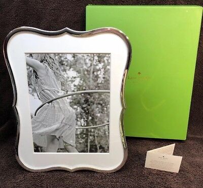 "Kate Spade New York Crown Point Silverplate 8"" x 10"" Picture Frame NEW IN BOX!!"