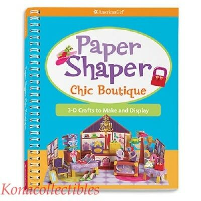 American Girl Paper Shaper Chic Boutique Book New! Darling!