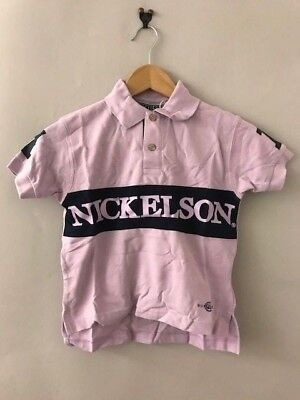 Lot 100 pcs Nickelson Polo Shirts Boys Girls Kids Mixed Colours Sizes 90's Chav