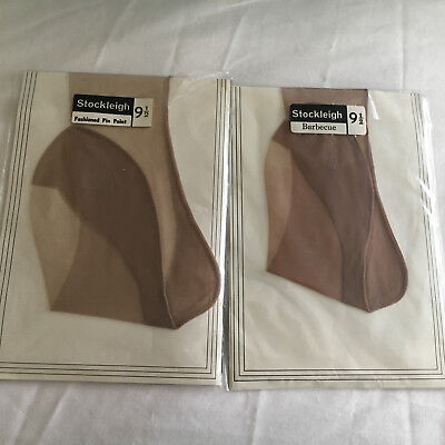 Vintage  Stockleigh seamed stockings with point heel  sz 9 1/2, 2 pairs boxed