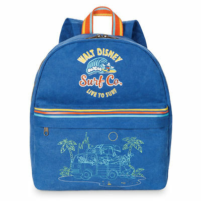 Disney Parks Exclusive Mickey Mouse & Friends Surf Co. Backpack Live to Surf NWT