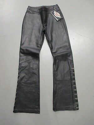 VTG Harley-Davidson Women's Leather Riding Pants Size 2 Dead Stock with tags