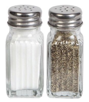 Salt & Pepper Shaker Set Clear Glass 3.75-in. new farmhouse country new