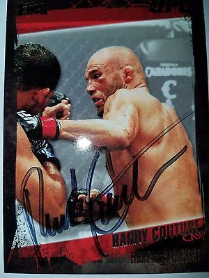 """Randy """" The Natural """" Couture Signed Card Autographed Ufc Bellator"""