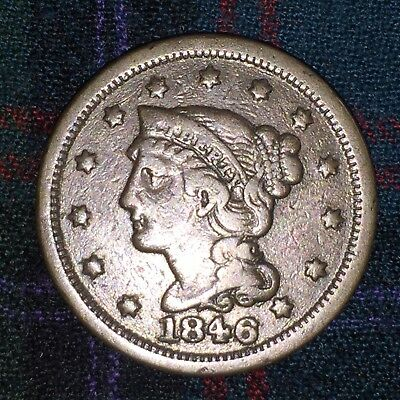 US Large Cent 1846, Small Date