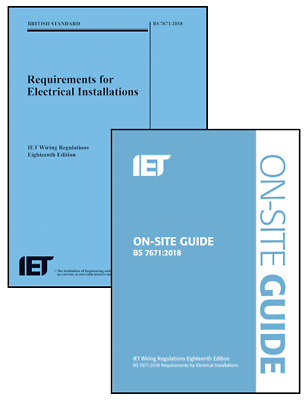 ✅ BS 7671 Regs + OSG 2018 18th Edition Blue On site guide & Wiring Regulation