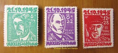 EBS Germany 1945 Soviet Zone Mecklenburg Victims of Fascism Michel 20-22 MNH** d