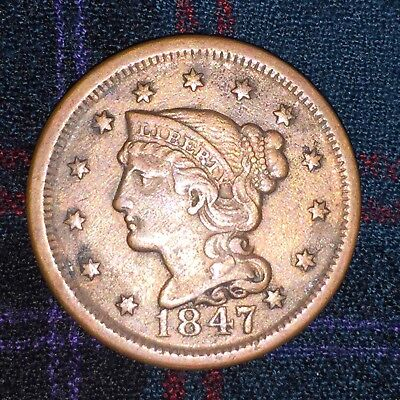 US Large Cent 1847 - XF