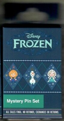 Disney Parks Exclusive Frozen Pixel Mystery Sealed Pin Box Elsa Anna Olaf Sven ?