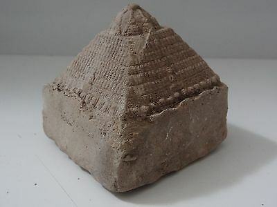 Antique Mongolian Buddhist Hand Made  Votive Clay Stupa