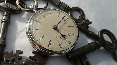 Very big antique silver English pre WW1 pocket watch...for repair