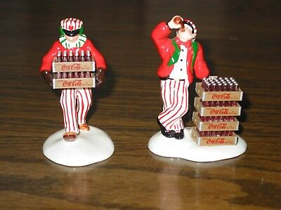 "Dept 56 Coca Cola Coke delivery men"" (set of 2) no box 1994"