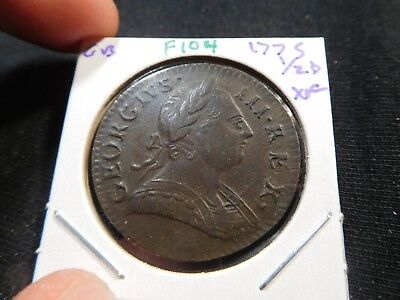F104 Great Britain 1775 1/2 Penny XF