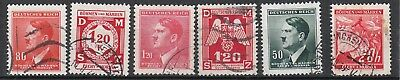 Stamp Selection Germany Bohemia WWII 3rd Reich AH Used