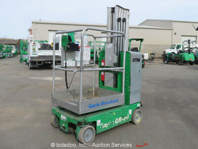2011 Genie GR20 Runabout Electric Personnel Mast Lift Aerial Manlift Platform