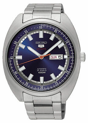 Seiko 5 Sports SRPB15 Men's Turtle Stainless Steel Blue Dial Automatic Watch