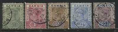Gambia QV 1898 1/2d to 3d used