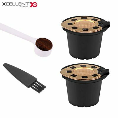 2Pcs Reusable Capsules Filter Cups for Refillable Pod Stainless Filter HG228