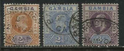 Gambia KEVII 1902 2d to 3d used