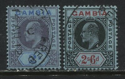 Gambia KEVII 1909 2/ to 2/6d used