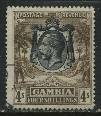 Gambia KGV 1922 4/ used