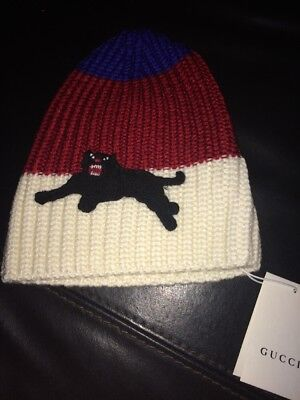 New Gucci Boys Panther Knitted Hat. Sz 2-5 Years