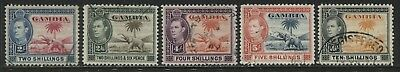 Gambia KGVI 1938 2/ to 10/ used